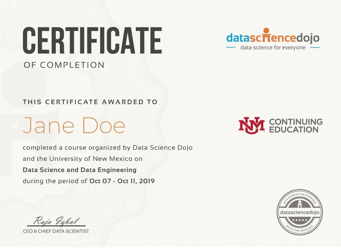 data science certificate- albuquerque